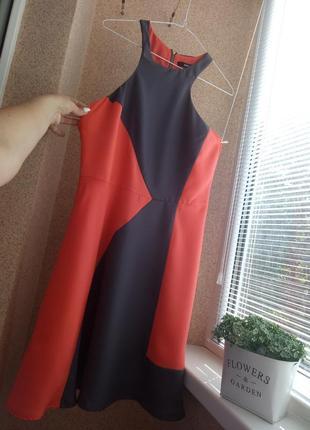 Платье с двухцветными вставками oasis
