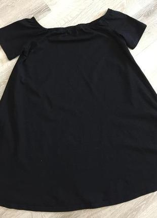 Плаття туніка трапеція з відкритими плечима