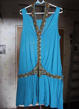 Платье оригинальное с бисерным украшениями(ретро стиль)