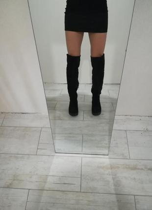 Чёрные сапоги ботфорты