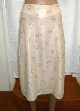 Летняя женская юбка с цветочным принтом waschgold