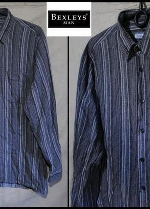 Брендова сорочка чоловіча bexleys m-xl (рубашка мужская)