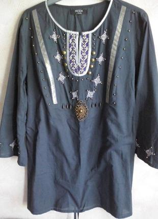 Туника блуза в народном стиле