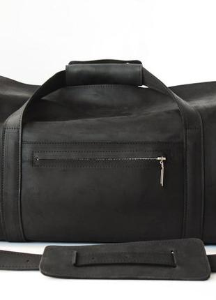 Дорожная сумка крейзи хорс (черная) винтажная