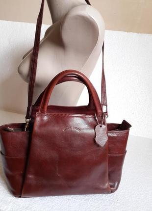 Брендовая сумка нат. кожа moda pelle италия