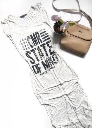 Платье в пол с надписями и порезаной спиной длинное платье турция