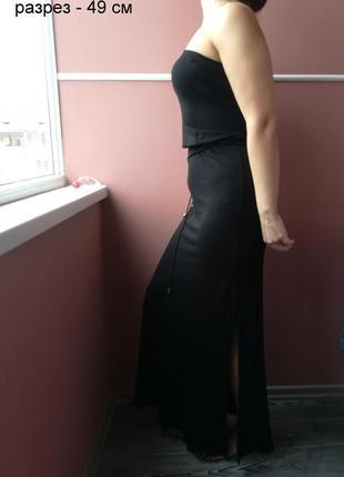 Длинное вискозное платье с эластаном  6 % , размера ( 10 ) - 38
