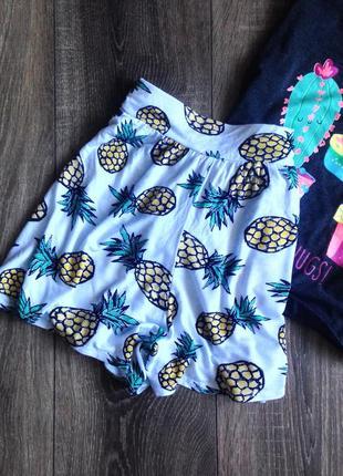 Шорты -юбка с ананасами  от boohoo