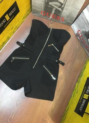 Крутой чёрный ромпер корсетный комбинезон cinema donna chik p.xxs-xs-34 на молнии