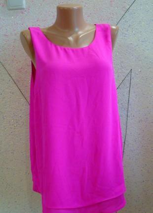 Яркая маечка блуза с двойным низом. размер 14-18