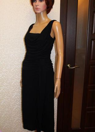Распродажа!!!натуральное платье с драпировкой и имитацией запаха на юбке.размер 6-10