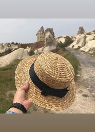 Канотье, шляпка, соломенная шляпа