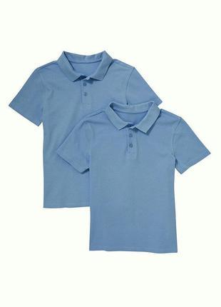Классные голубые футболки-поло  от nut meg  на 5-6,7-8,10-11,11-12,12-13 лет