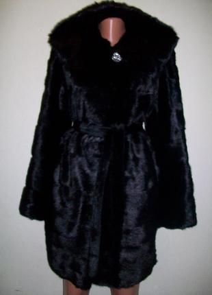 Шуба,полушубок imperial croun fur! норка,норковый,норковая-поперечка! капюшон+пояс!
