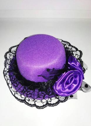 Шляпка декоративная на заколках
