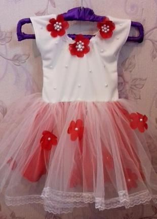 Сукня з оздобленням ручної роботи