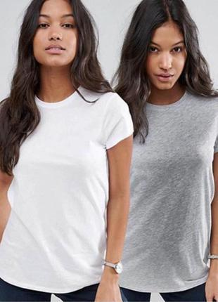 Комплект базовых однотонных футболок 100% коттон размеры