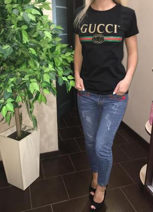 Женская футболка в стиле gucci размер l