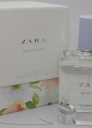 Zara black amber 100 ml туалетная вода женская оригинал испания