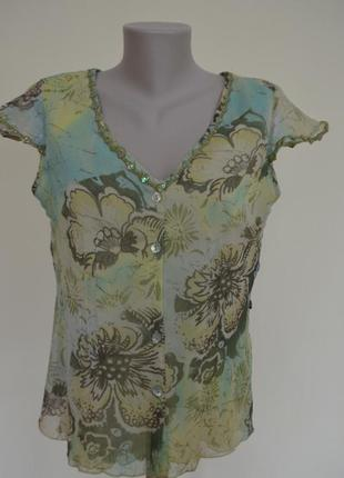 Нарядная блуза с вышивкой бисером