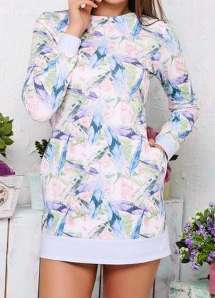 Платье свободного кроя с карманами molegi
