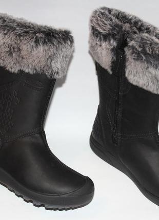 Кожаные зимние сапоги keen waterproof 34-35 стелька 22,5 см.