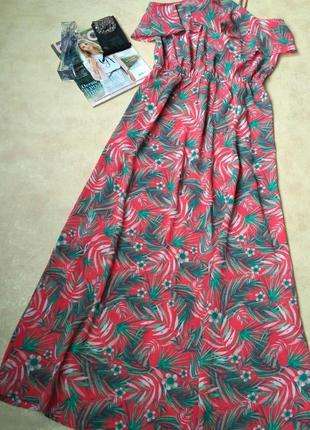 Красивое платье-сарафан в пол