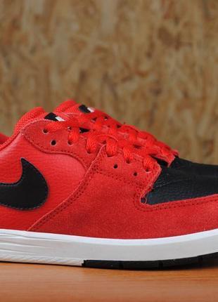 Красные замшевые кроссовки, кеды nike sb paul rodriguez 7. 37.5 размер. оригинал