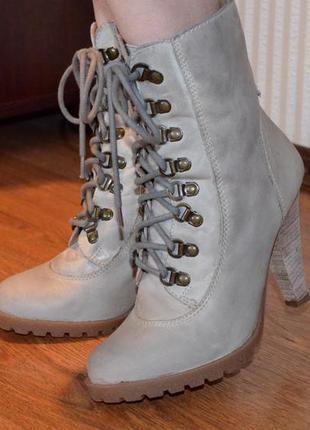 Ботинки кожаные 38 размер next