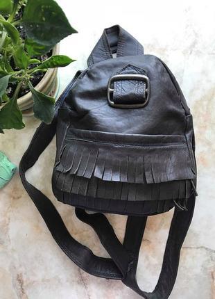 Рюкзак из мягкой натуральной кожи ручной работы