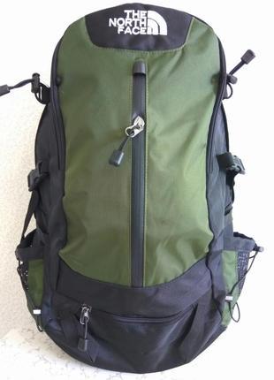 Рюкзак the north face туристический, спортивный экспедиционный, цвет оливковый 40 l. акция