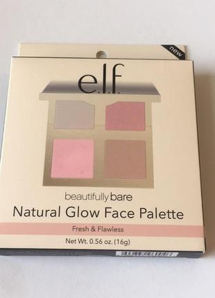 Elf палетка для лица natural glow face palette