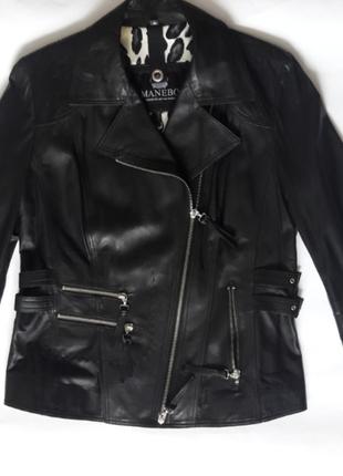 Куртка косуха шкіряна manebo розмір 40(м повна)