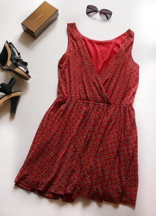 Платье манго с открытой спиной, короткое платье, летнее платье с запахом