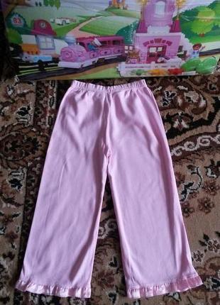 Красивые фирменные пижамные штанишки disney на красавицу 3-4г