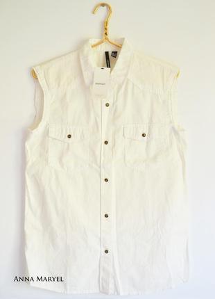 Рубашка белая mango