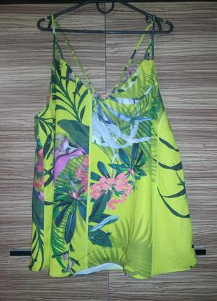 Яркая майка, блуза в тропический принт next