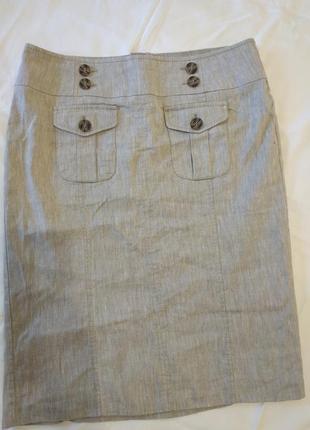 Льняная юбка миди от marks&spencer