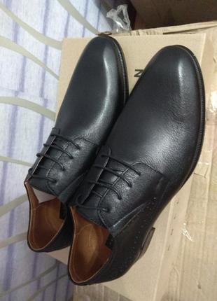 Кожаные туфли размер 43, распродажа!