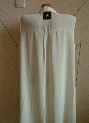 Новая с биркой майка блуза с кармашками на груди и удлиненной спинкой. размер 18-22