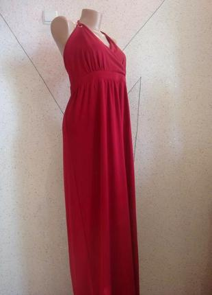 Новое вечернее бордовое платье с биркой. размер 16-18