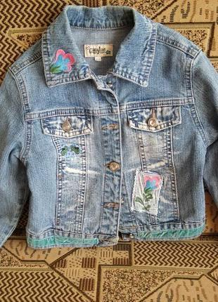 Джинсовая куртка, джинсовка, пиджак gloria jeans 32/128