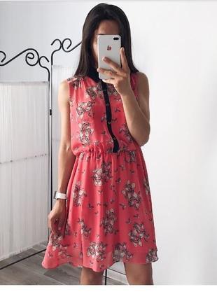 Шифоновое платье c бабочками