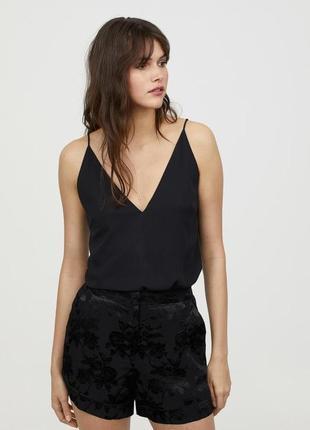 Чорні стильні шорти