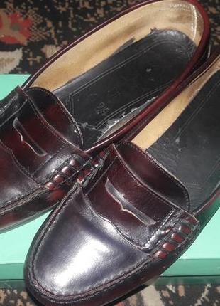 Кожаные мокасины-туфли, лофферы