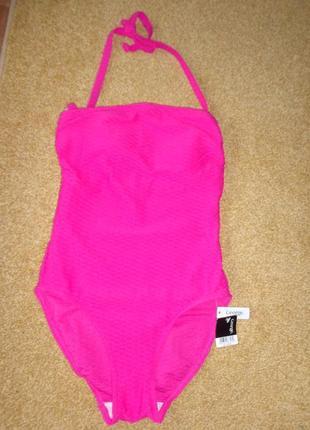 Ярко-розовый совместный / сдельный купальник