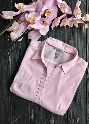 Рубашка классическая в полоску h&m