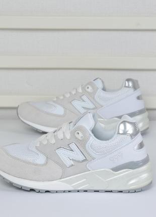 Кроссовки белые с жемчужным из замши 36-40 р.