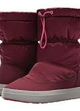 Зимние ботинки crocs lodgepoint pull-on boot w7