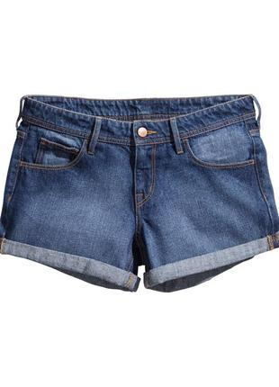 H&m джинсовые шорты классика синие